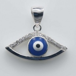 Pendant  Eye 9x21mm. Circonia