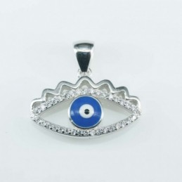 Pendant Eye 13x21mm. Circonia