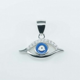 Pendant Eye 10x20mm. Circonia