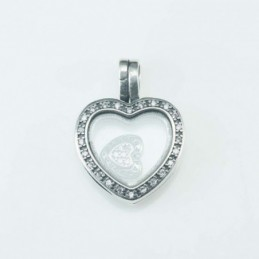 Pendant  Heart in bow...
