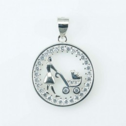 Pendant Mama And Baby 18mm....