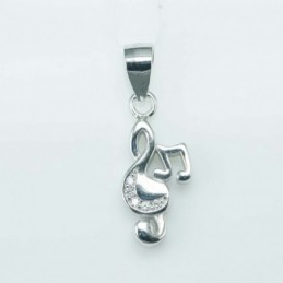 Pendant Music 8x16mm. Circonia