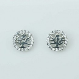 Earring Roung small  Tree...