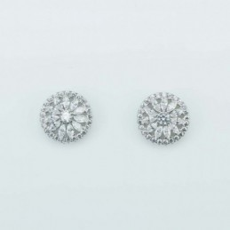 Earring Roung Flower 11mm....