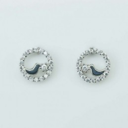 Earring Roung in bird 9mm....