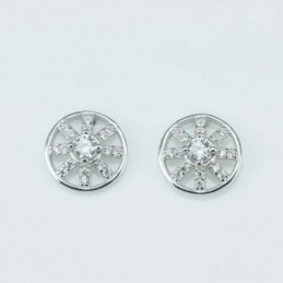 Earring Round 10mm. Circonia