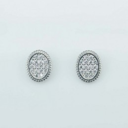 Earring Oval 8x10mm. Circonia