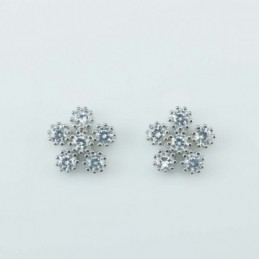 Earring Flower 6pc 10mm....