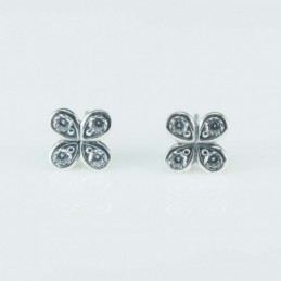Earring Flower 8mm. Circonia