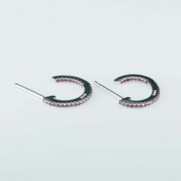 Earring Round 14mm. rose...