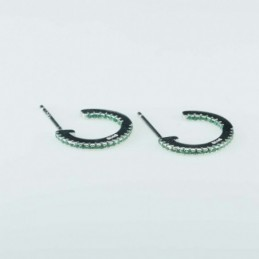 Earring Round 14mm. Green...
