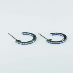 Earring Round 14mm. blue...