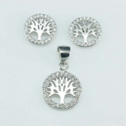 Set Ea+Pend Tree 16x10mm....