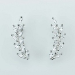Earring  Leaf  8x23mm....