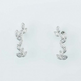 Earring  Leaf  6x18mm....