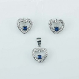 Set Ea+Pend   Heart   11mm....