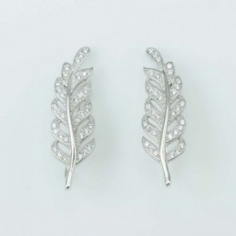 Earring  Leaf  8x26mm....