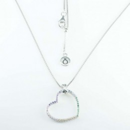 Necklace Heart 22mm. 50cms....