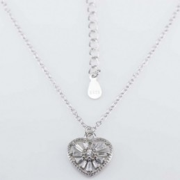 Necklace Heart 12mm. 45cms....