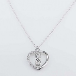 Necklace Heart 14mm. 46cms....