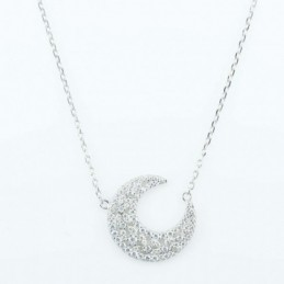 Necklace Moon 20mm. 45cms....