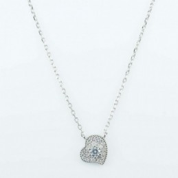 Necklace Heart 11mm. 45cms....