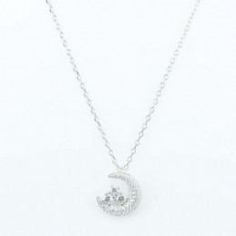 Necklace Moon 14mm. 45cms....