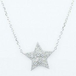 Necklace Star 19mm. 45cms....