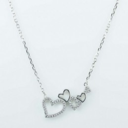 Necklace Heart 3pc 20x25mm....