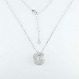 Necklace Moon 15mm. 45cms....