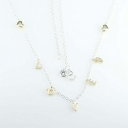 Necklace Gold L O V E D...