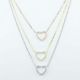 Necklace  HEART 3,pc  11mm....