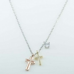 Necklace Cross  4+8x15mm....