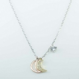 Necklace  MOON   4+6x13mm....