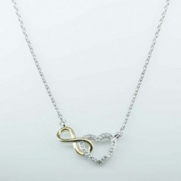 Necklace Heart+infinity...