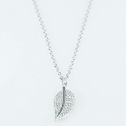 Necklace  Leaf  9x20mm....
