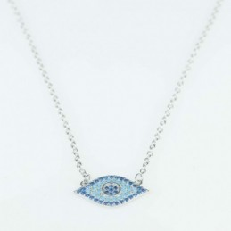 Necklace  EYE  9x18mm,Circonia