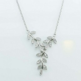 Necklace Leaf 8x20mm....
