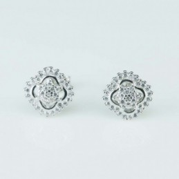 Earring  Flower  9mm....
