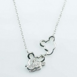 Necklace Mouse 14mm. Circonia
