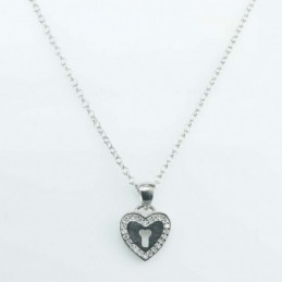 Necklace Heart lock 10mm....