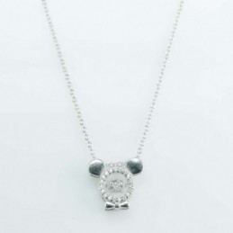 Necklace Mouse 13mm. Circonia