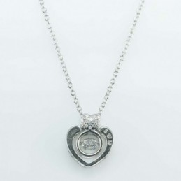 Necklace Heart 12mm. Circonia