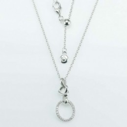 Necklace Oval 12mm. Circonia