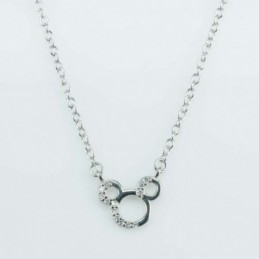 Necklace Mouse 10mm. Circonia