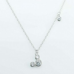 Necklace Mouse 9mm. Circonia