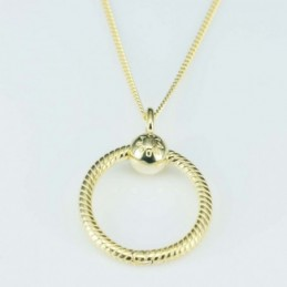 Necklace  3 x 25mm.  gold...