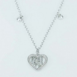 Necklace  Heart Circonia