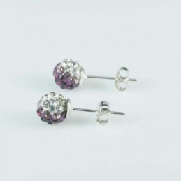 Earring ball 6mm. crystal...