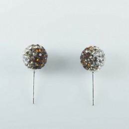 Earring ball 8mm. crystal...